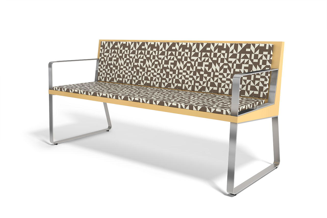 ARA72: Arrow Bench With Arms | Peter Pepper Products | Expressive  Essentials®