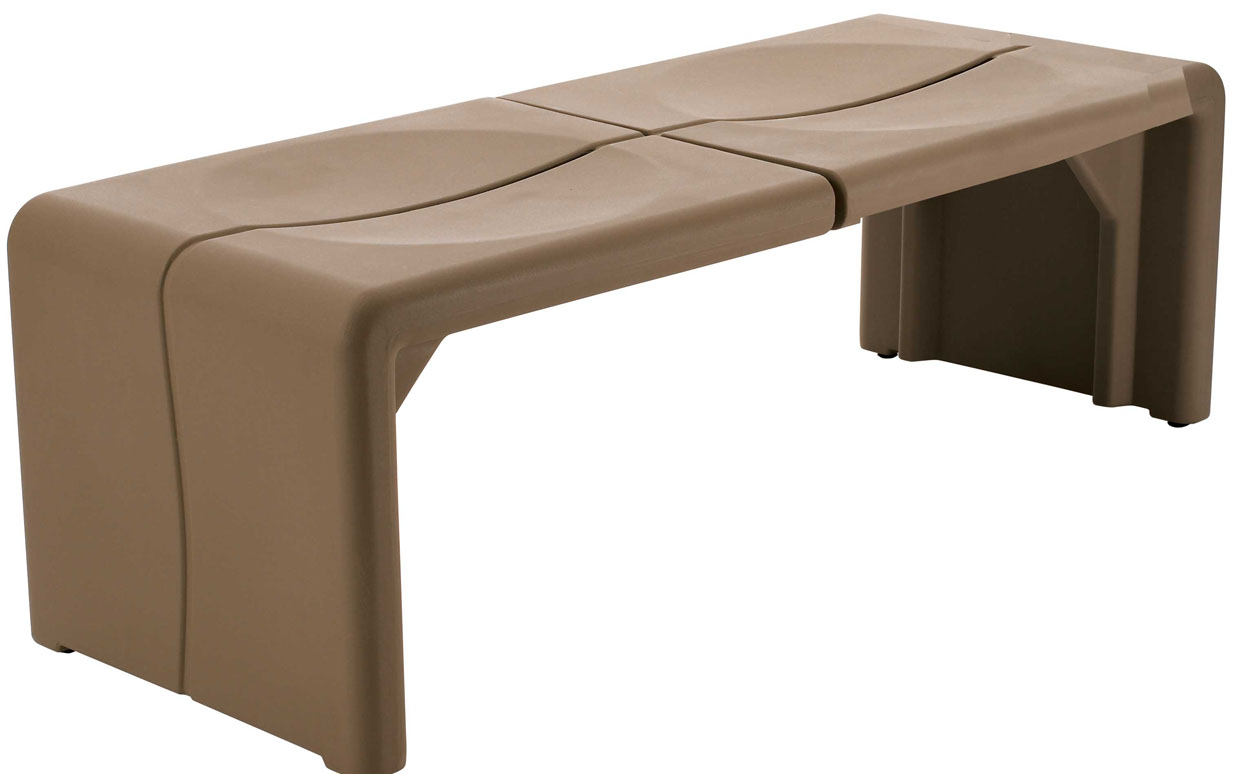 CR54: Crater Bench   2 Seat | Peter Pepper Products | Expressive Essentials®