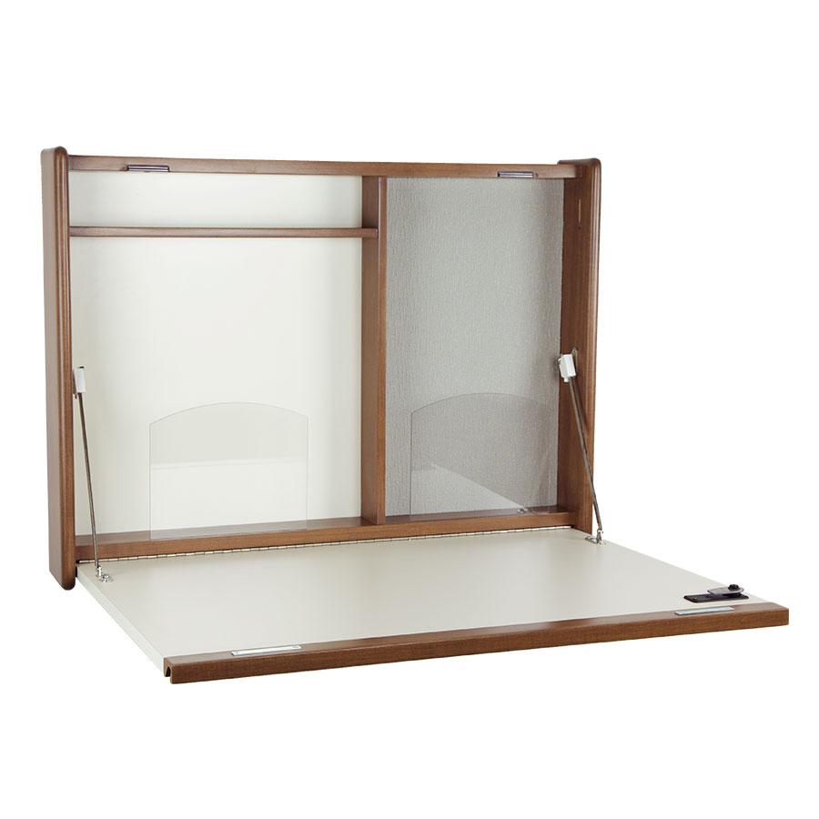 folddown wall desk with pen rail - Fold Down Desk