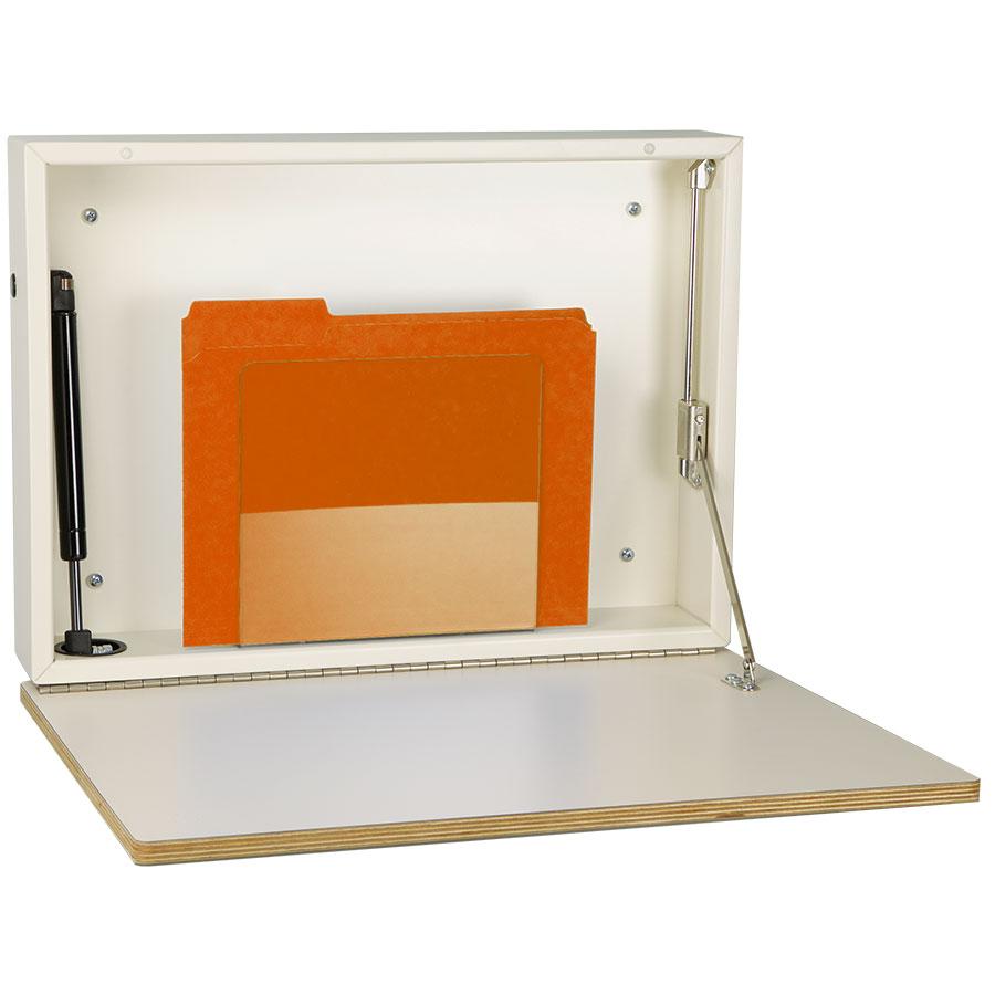 express desk fold down wall desk with selfclosing door - Fold Down Desk